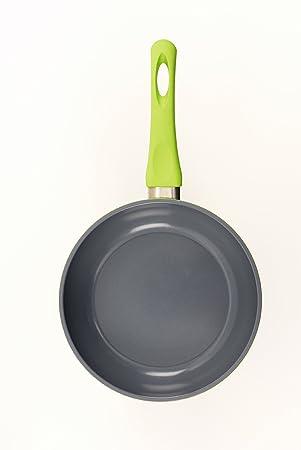 Darna Tirol 20 cm de aluminio fundido con revestimiento de cerámica sartén - en color verde.: Amazon.es: Hogar