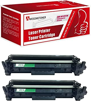 Amazon Com Awesometoner Compatible Toner Cartridge Replacement For Hp Cf217a Use With Laserjet Pro M102a M102w Mfp M130a Mfp M130fn Mfp M130fw Mfp M130nw Black 2 Pack Office Products