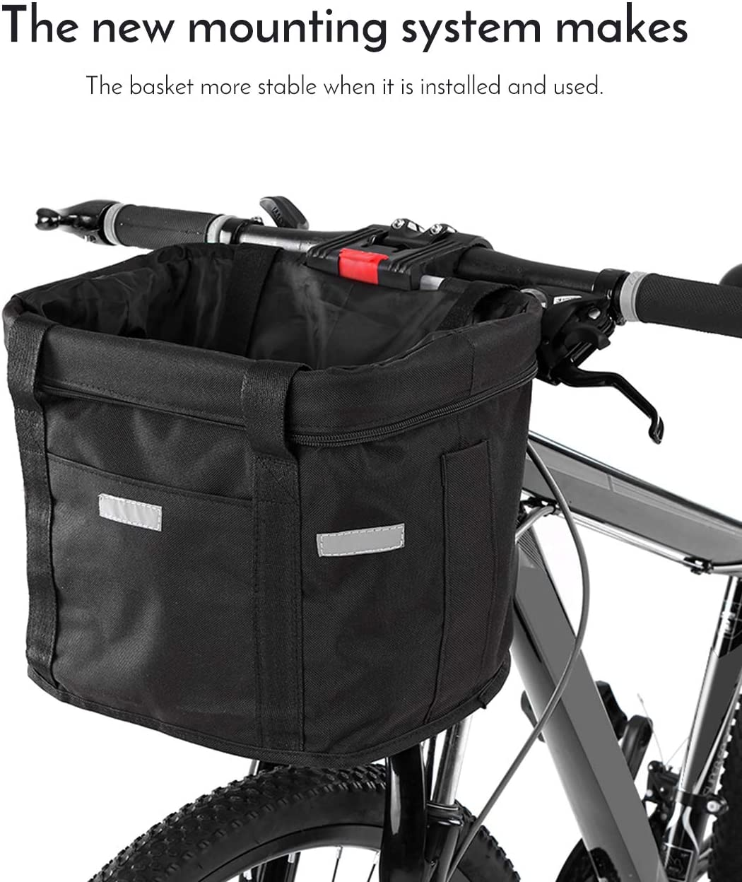 Bike Handlebar Insulated Bag Cycle Front Cooler Basket MTB Cycling Pannier Pouch