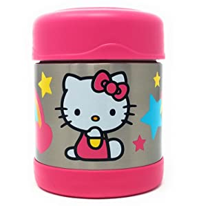 Thermos Unbreakable Stainless Steel Vacuum Insulation Funtainer Food Jar (Hello Kitty)