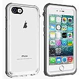 iPhone 7 Plus/8 Plus Waterproof Case, Vapesoon Waterproof Shockproof Snowproof Clear Case for iPhone-Gray+White (iPhone 7 Plus/8 Plus 5.5 inch)