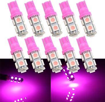 10pcs Ultra Blue T10 168 194 W5W 8SMD LED Dashboard Instrument Panel Light