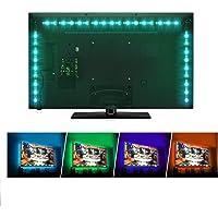 Sunnest TV Backlight Light Kit, 6.56FT/2M 5V USB LED Lights Strips 5050 RGB Bias Lighting with Remote for HDTV Desktop…