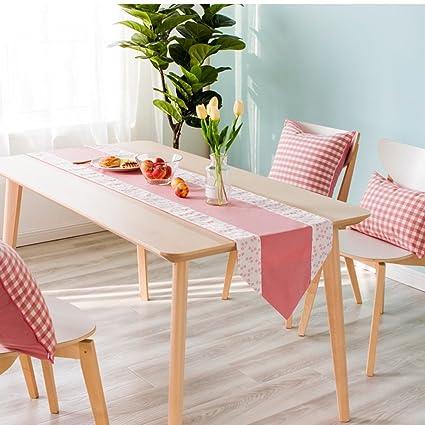 BSNOWF-Table Runner Mesa Runner Bandejas de tela Mesa de comedor rosa Mesa de centro