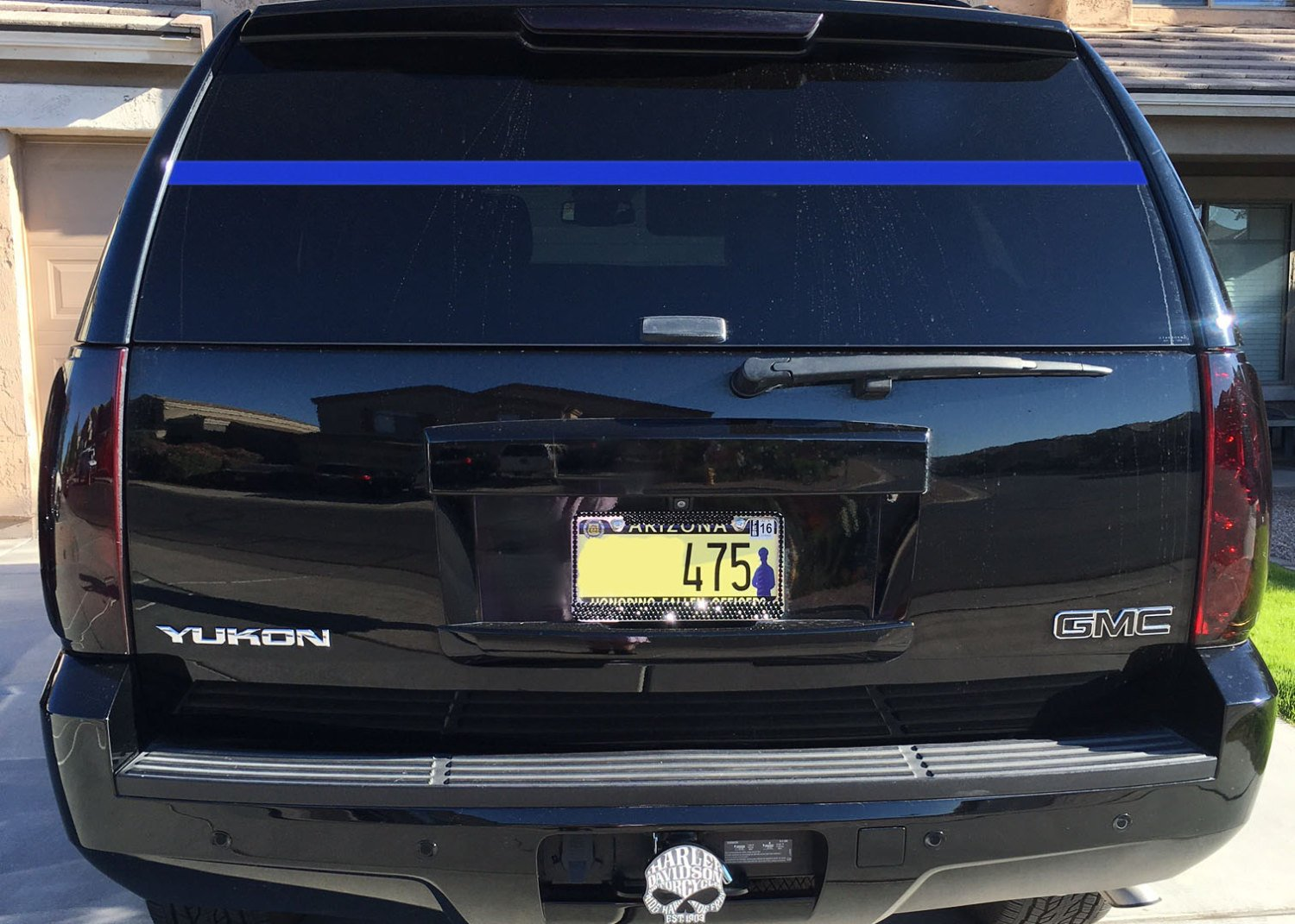 Amazoncom Police Officer Support Thin Blue Line Rear Window - Chevy truck stickers for back window