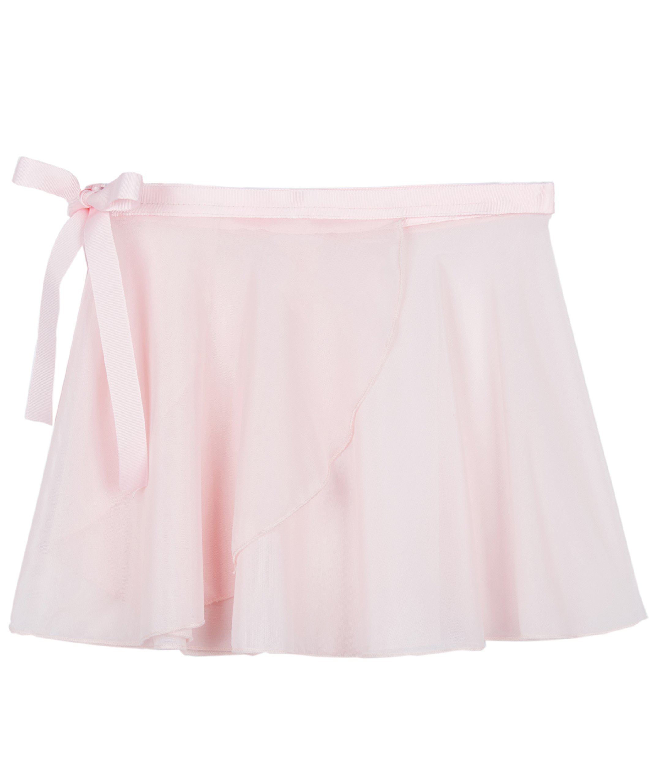MdnMd Dance Skirt for Girls with Tie Waist (Ballet Pink, Age 12-16)