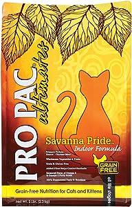 Pro Pac Ultimates Savanna Pride Grain Free Dry Cat Food, 5 Lb.