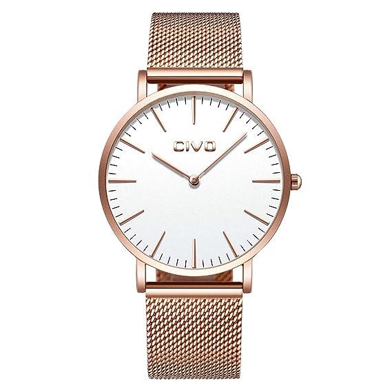 CIVO Unisex para Hombre Reloj para Mujer Ultra Thin Minimalist Relojes de Moda de Lujo con