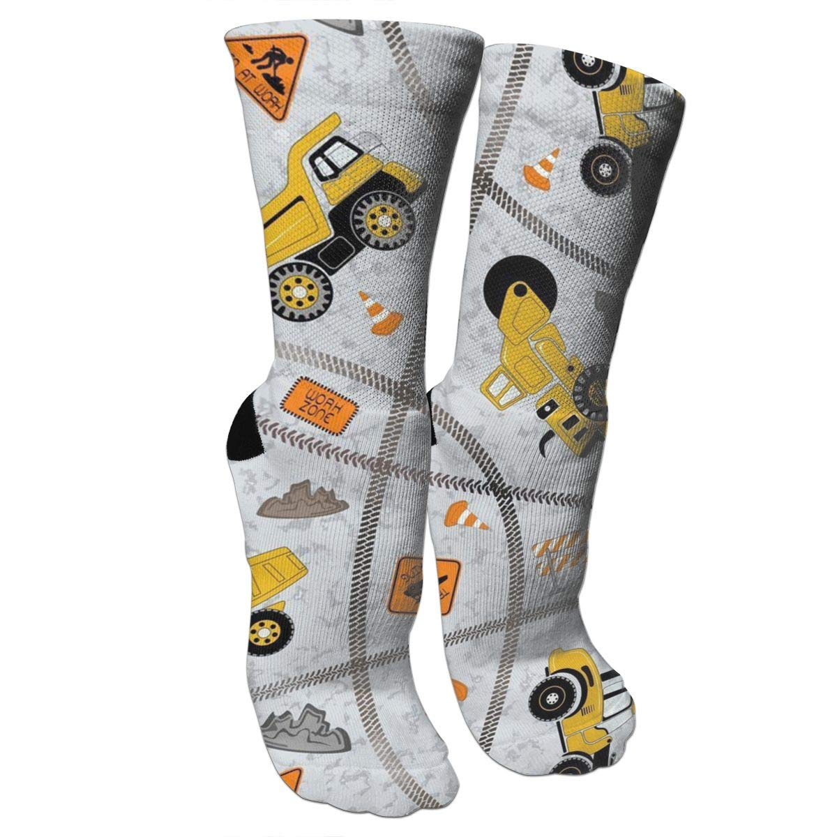 Construction Trucks Zone Casual Cotton Crew Socks Cute Funny Sock,great For Sports And Hiking