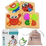 ToyerZ Juguetes de Madera Puzzles Educativos 1 2 3 años,Juguete Montessori Puzles para Bebes,Dibujo de Animales…