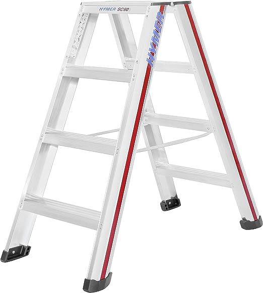 Hymer 602408 - Escalera de mano (aluminio, 8 peldaños): Amazon.es: Bricolaje y herramientas