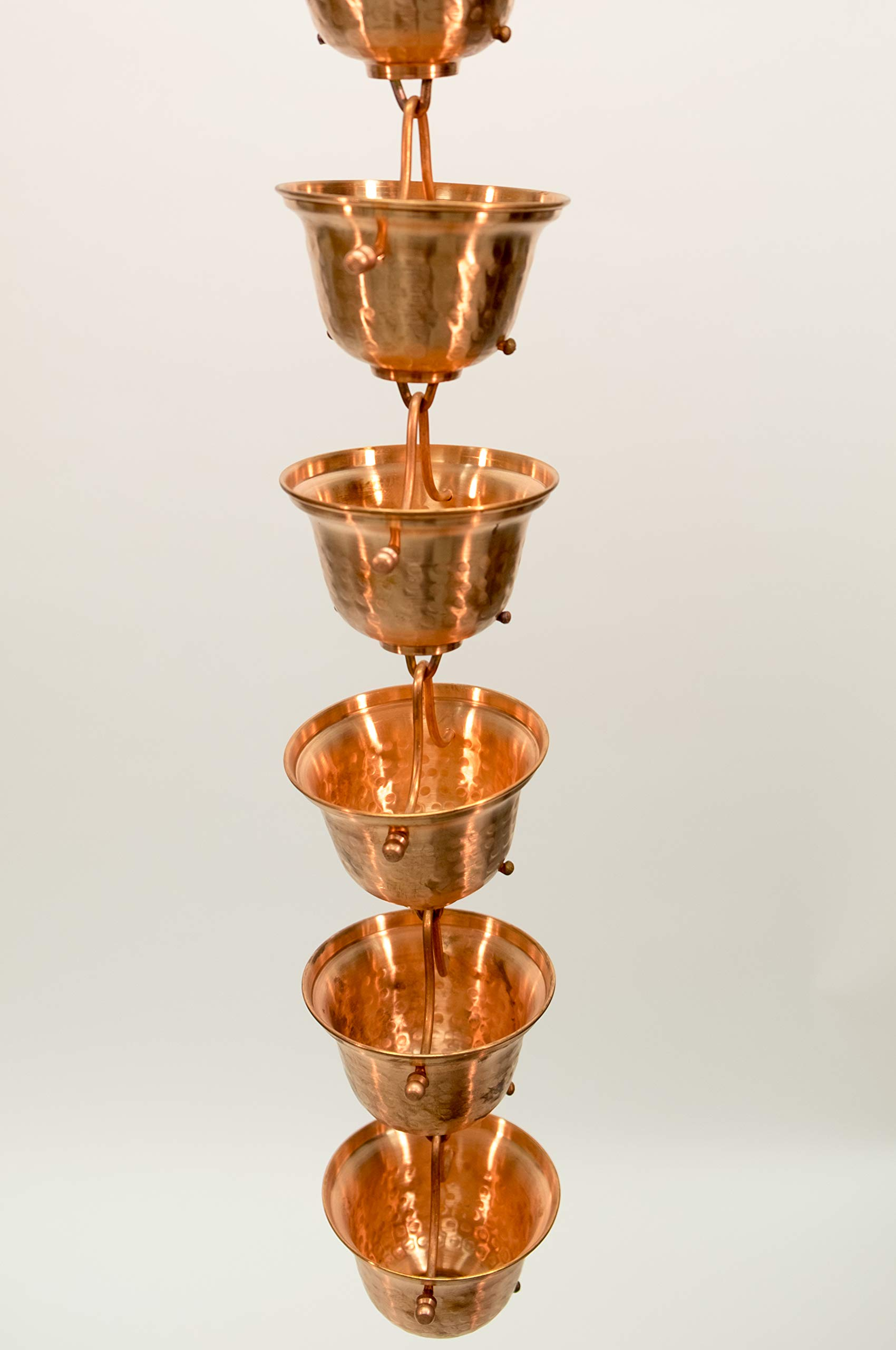 Nutshell Stores Copper Bells Rain Chain with Installation Kit (10 Foot)