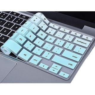 "CaseBuy Keyboard Cover Compatible 11.6"" Samsung Chromebook 3 XE500C13 XE501C13 / Samsung Chromebook 2 XE500C12 11.6 inch/Samsung Chromebook Plus V2 2-in-1 XE520QAB 12.2"", Gradual Mint Green"