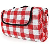 """Camco 42803 Picnic Blanket (51"""" x 59"""", Red/White)"""
