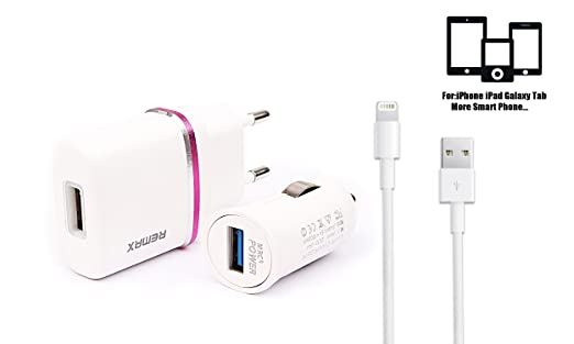 Remax Cargador de Coche USB(5V/1A) y Cargador de Pared USB ...