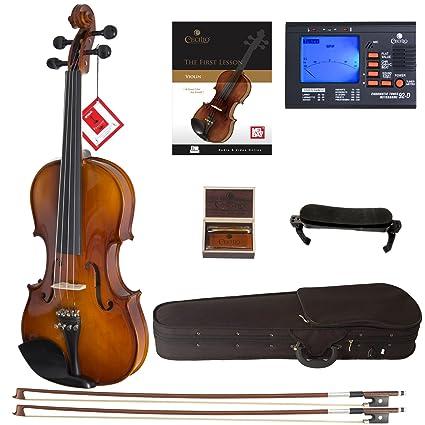 Amazon.com: Cecilio CVN-300 Solidwood - Violín con cuerdas D ...