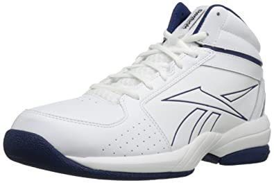 Reebok Mens Buckets VIII Basketball ShoeWhiteClub Blue65