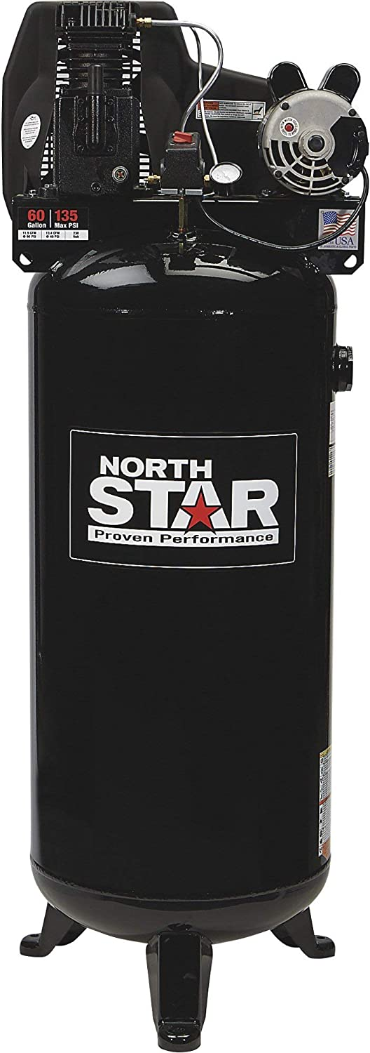 NorthStar Electric Air Compressor - 3.7 HP, 60-Gallon Vertical Tank