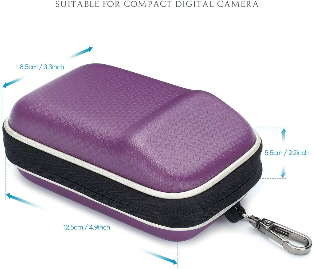 Purple SUMAX Hard Shock Resistant Compact Digital Camera Case