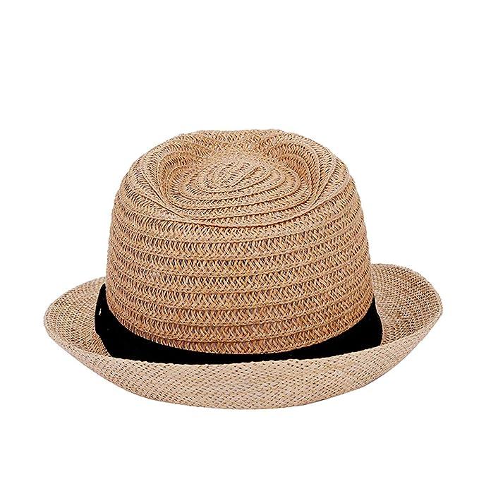YACHEN Cappello estivo da uomo in carta da jazz Cappello vintage fedora da  uomo in stile 63a55e33c9de
