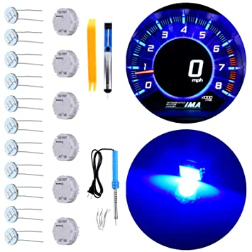 Tahoes 6 Motors,10 Mimi Light Bulbs ECCPP Instrument Gauge Cluster X27 168 Stepper Motor Repair Kit for All 03-06 Chevy Silverados Yukons Suburbans