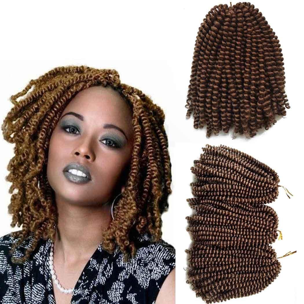 Amazon 3 Pack Spring Twist Hair Crochet Braids 8 Inch Short