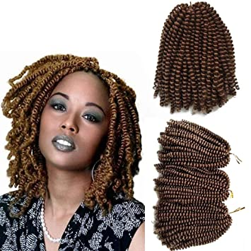 Amazon 3 Pack Spring Twist Hair Crochet Braids 8 Inch Short