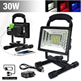 eTopLighting 30W Portable LED Emergency Flood Light, Camping Light, Work Light, Emergency SOS Function Flashers and Two USB Port Power Bank, 36 LED Beads, APL1718