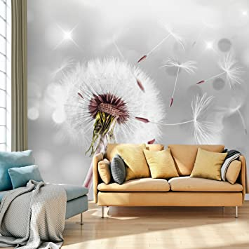 Fototapete schwarz weiß pusteblume  murando - Fototapete Pusteblumen 300x210 cm - Vlies Tapete - Moderne ...