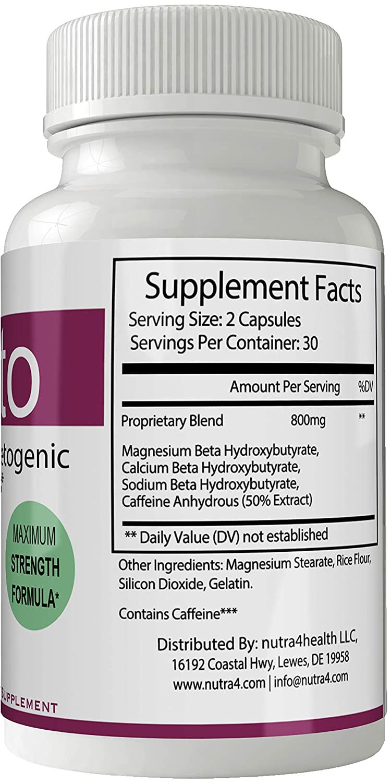 Purest Keto Diet Pills Advanced Weight Loss Supplement