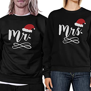 df298ba2d9 Amazon.com: 365 Printing Christmas Couple Sweatshirt Ideas Pullover Fleece:  Clothing