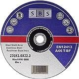 SBS Lot de 25disques à tronçonner 230x 2,0mm inox Flex Disques Disques à tronçonner en métal