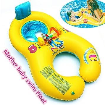 JTT madre bebé nadar barco – suave hinchable flotador de natación Anillo, diversión de verano