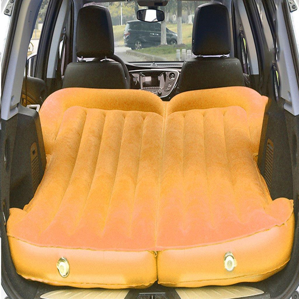 車の車のトラベルベッドのベッドの自動インフレータブルクッション B07DS8GGFB オレンジ オレンジ