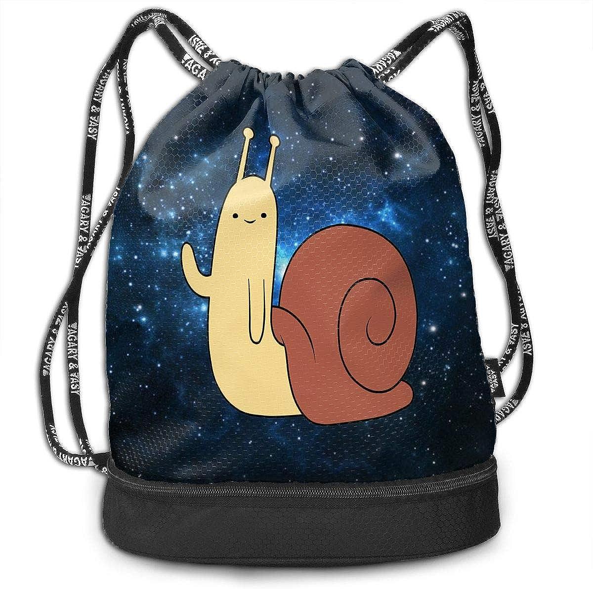 Drawstring Backpack Cute Snail Gym Bag