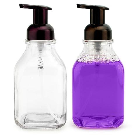 Amazon.com: Dispensadores de jabón de espuma de cristal ...