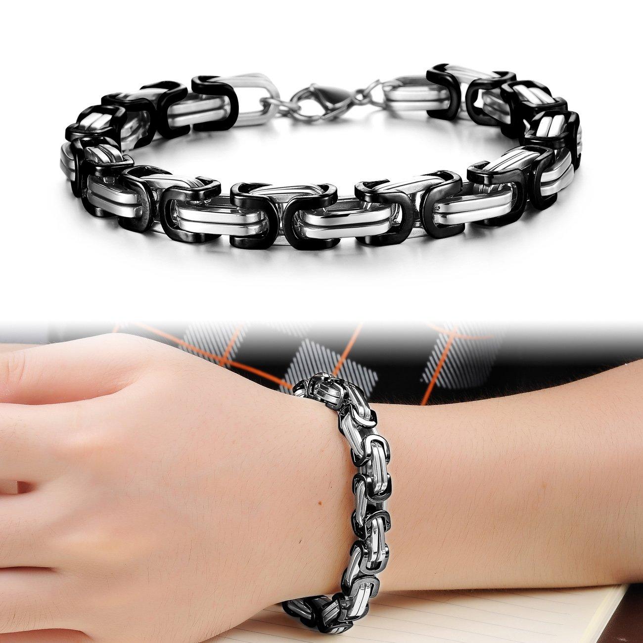 cee4e4a77391f UM Jewelry Fashion Jewelry Mens Stainless Steel Chunky Chain Bracelet 9