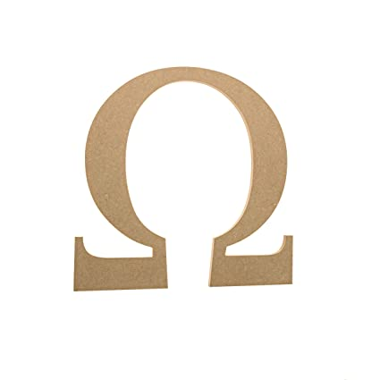 Amazon 6 Wooden Greek Letter Omega Fraternitysorority