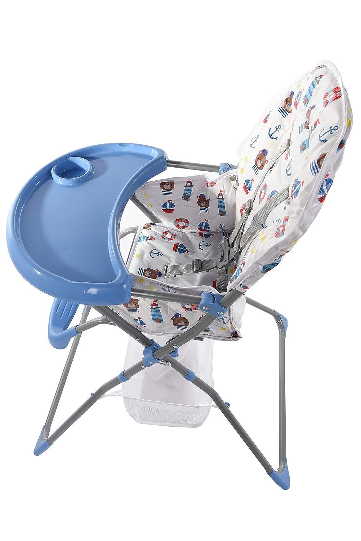 Mehrfarbig Baby Kombi Hochstuhl D BASIC- Blau Farben Kinderstuhl Kinderhochstuhl