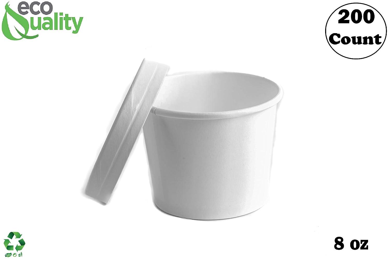 Amazon.com: Contenedores desechables de papel blanco con ...