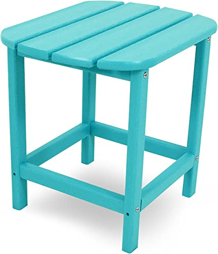 POLYWOOD SBT18AR South Beach 18 Outdoor Side Table, Aruba