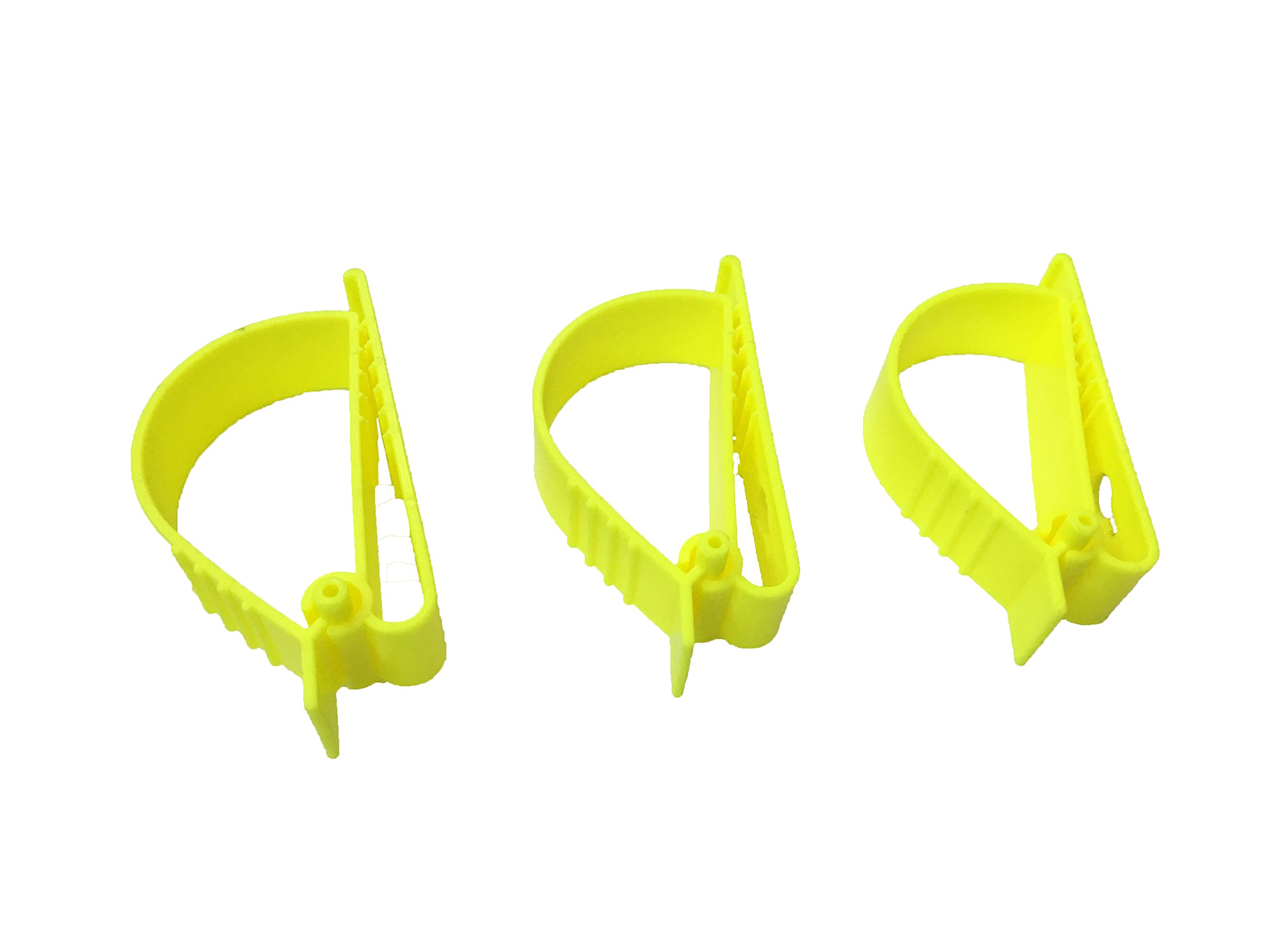 3Pcs Yellow Sino-Max S002-3Y Glove Grabber Clip Holder Guard Work Safety Clip Glove Keeper Safety Clips for Helmet, Earmuff, Mask, Cable, Cord, Rope Hunging in Hook Belt Clip