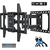 Mounting Dream TV Mount Bracket for 42-70 Inch Flat Screen TVs, Full Motion TV Wall Mounts with Swivel Articulating Dual Arms , Heavy Duty Design - Max VESA 600x400mm , 100 LBS Loading , MD2296