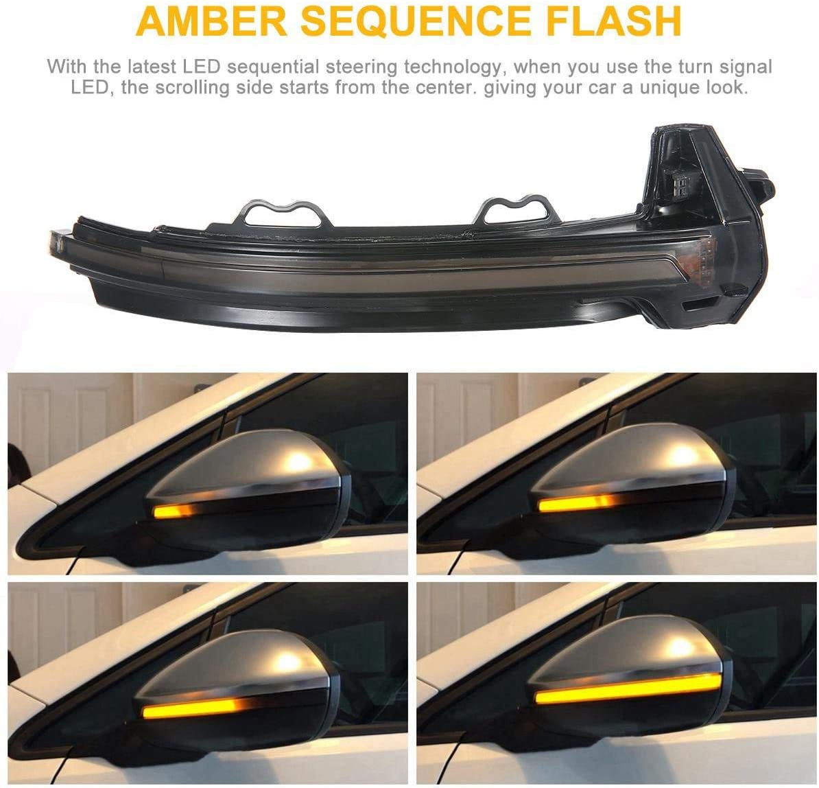 A5 // S5 B9 // 8F Moshbu Spiegelblinker Auto Dynamische LED Blinkerleuchten f/ür Audi A4 // S4 B9 // 8W 1 Paar 1 Par - Attraktives Seitenspiegel-Signaldesign