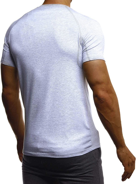 Leif Nelson Gym pour des Hommes Fitness T-Shirt Chemise dentra/înement Training LN06279