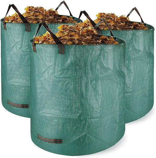 Bolsas para desechos de jardín 3 PCS Saco para residuos Bolsas de Basura de jardín y Saco de jardín Extra Resistente Plegable Bolsas de Jardin Hechas de Tela de Polipropileno(PP): Amazon.es: Jardín