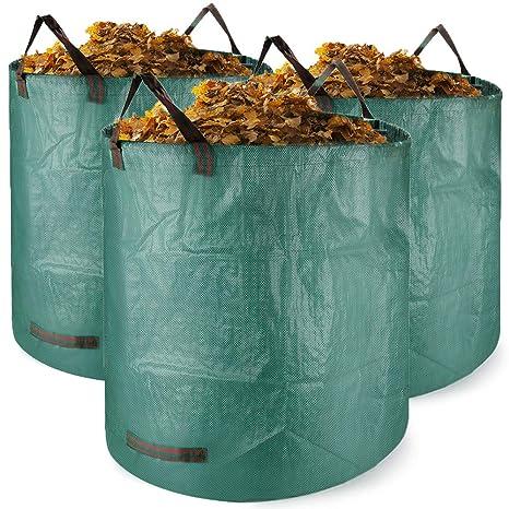 Bolsas para desechos de jardín 3 PCS Saco para residuos Bolsas de Basura de jardín y Saco de jardín Extra Resistente Plegable Bolsas de Jardin Hechas ...