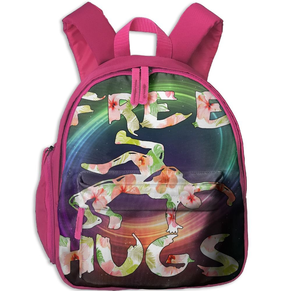 Free Hugs Youth Wrestling Gift Flower Lightweight Cute Durable Cute Toddler Backpack Best For Toddler