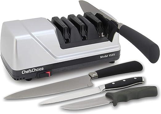 Afilador de cuchillos el/éctrico para cuchillos rectos y dentados 0101500 3-stage gris ChefsChoice