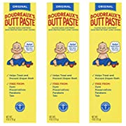 Boudreaux's Butt Paste Diaper Rash Ointment | Original | 4 oz. | Pack of 3 Tubes | Paraben & Preservative Free